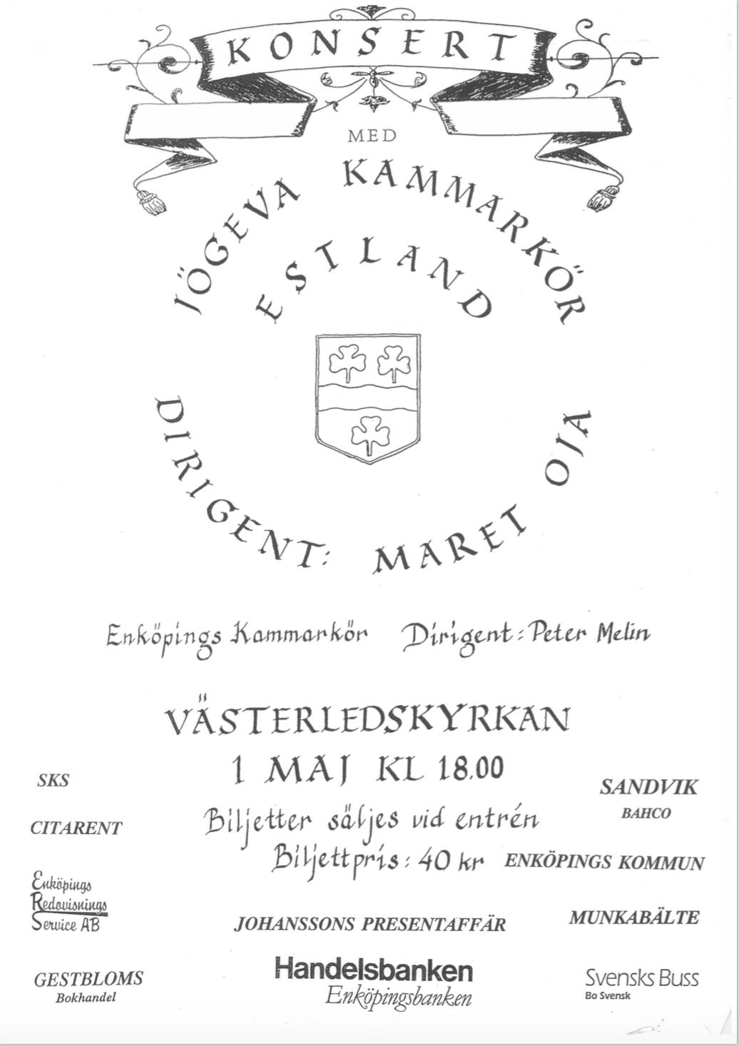 1992-affisch-konsert-med-jogeva-kammarkor-och-enkopings-kammarkor