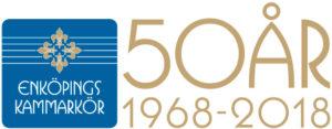 Enköpings Kammarkör 50 år logotyp liggande
