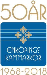 Enköpings Kammarkör 50 år logotyp vertikal